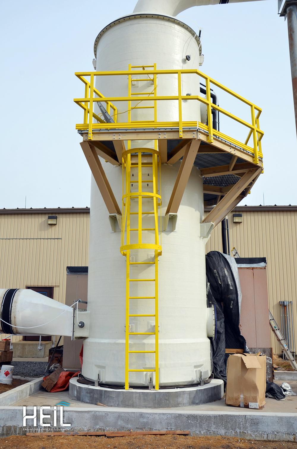Vertical Countercurrent Scrubbers | Heil Process Equipment